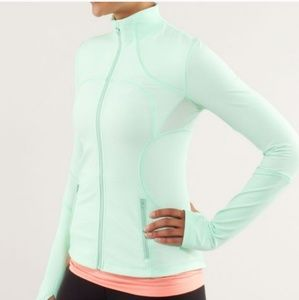 Lululemon Mint Green Forme Zip-Up Full Zip Jacket